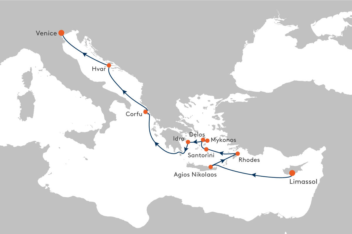 Cruise From Limassol Cyprus To Venice With Ms Europa 2