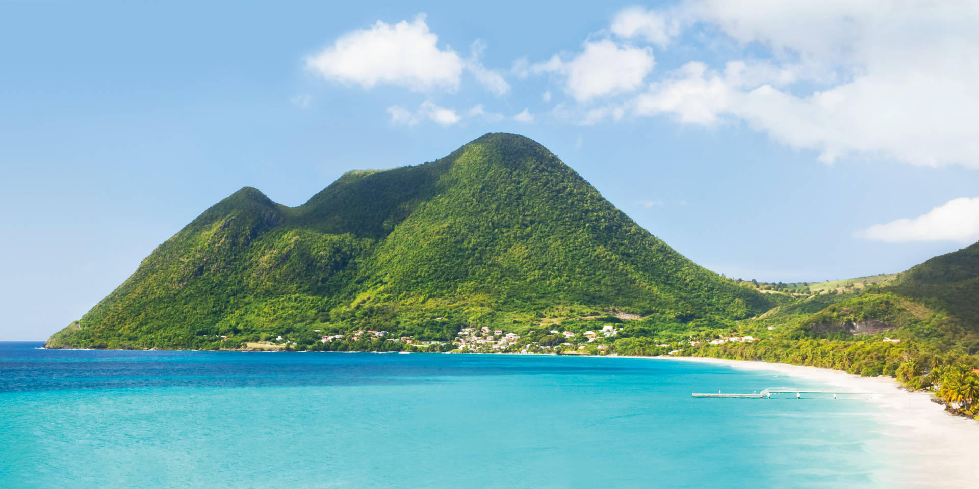 Tropical island in the Caribbean