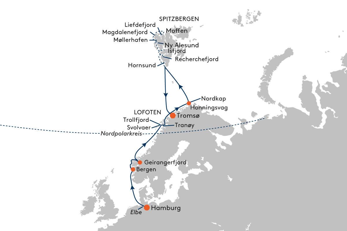 Expeditionskreuzfahrt von Hamburg nach Tromsø mit HANSEATIC nature ...