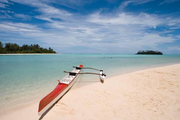 Outrigger Canoe on Muri Beach