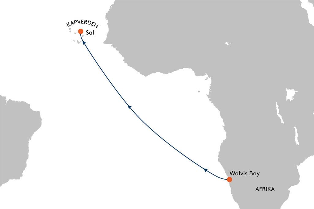 Expeditionskreuzfahrt von Walvis Bay nach Sal mit HANSEATIC ...