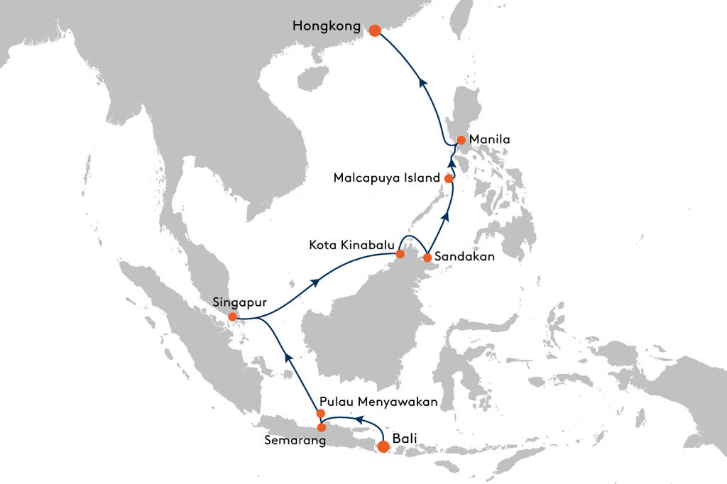 Kreuzfahrt von Benoa (Bali) nach Hongkong mit MS EUROPA 2 ...