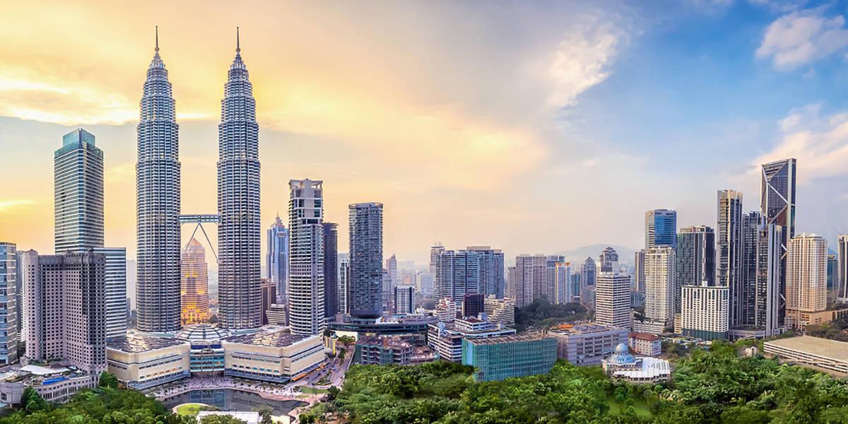 In the skies of Kuala Lumpur.