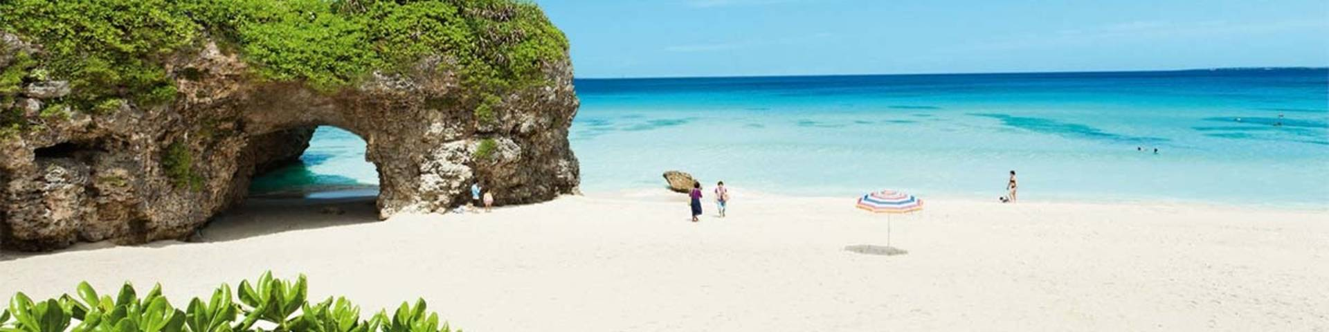 Tropical island beach paradise, Okinawa, Japan