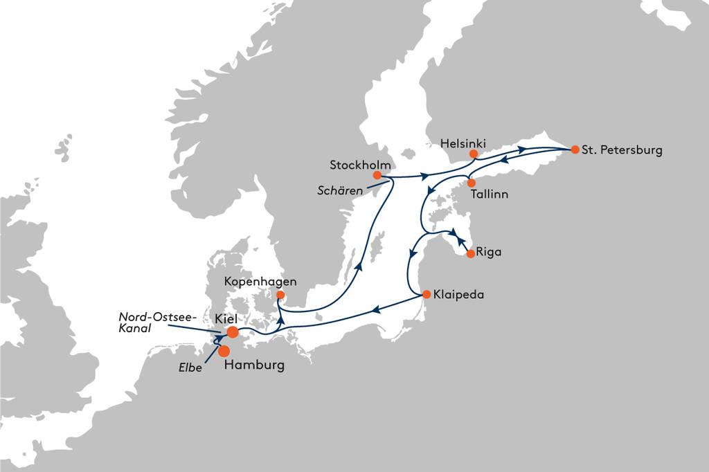 Kreuzfahrt von Hamburg nach Kiel mit MS EUROPA - EUR2010 ...