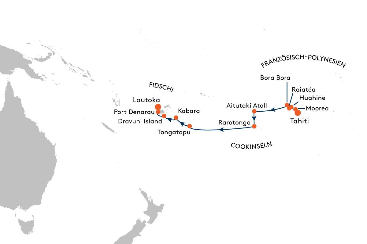 Kreuzfahrt von Tahiti nach Fidschi mit MS EUROPA 2 - EUX2029 - Hapag ...