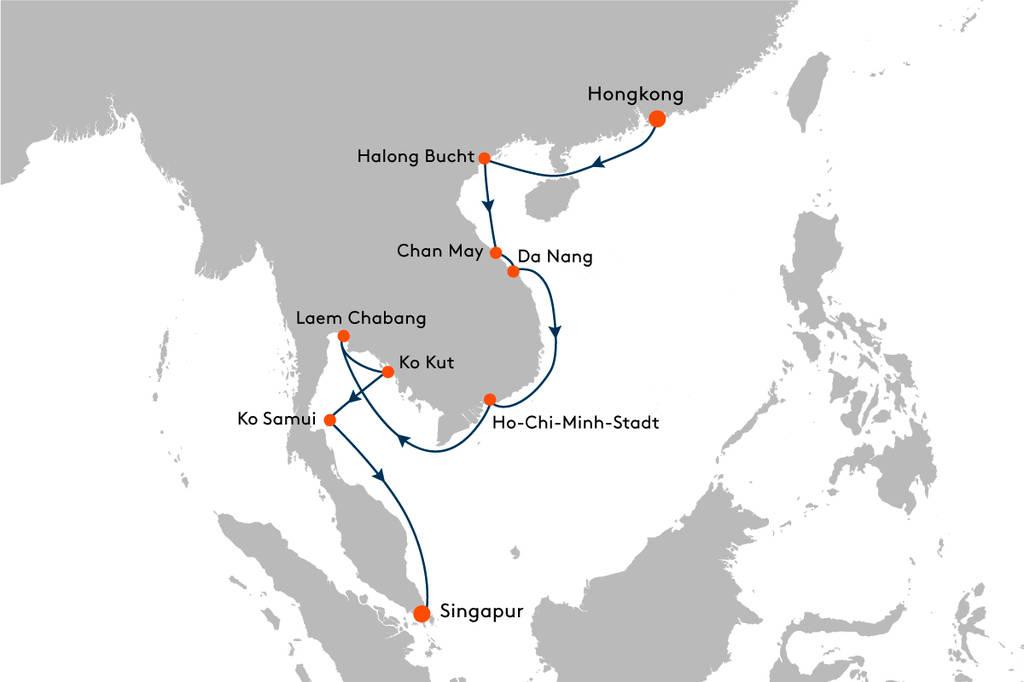 Kreuzfahrt von Hongkong nach Singapur mit MS EUROPA 2 - EUX2103 ...