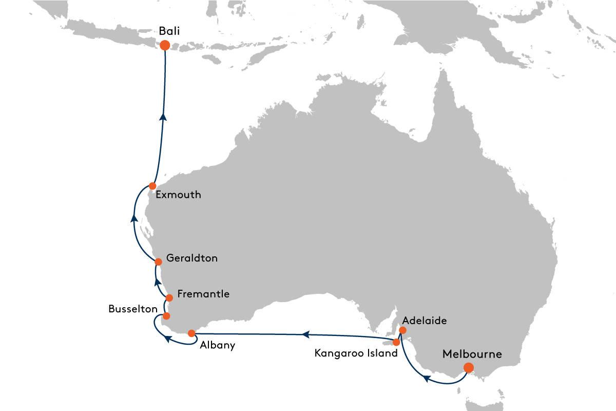 Kreuzfahrt von Melbourne nach Benoa (Bali) mit MS EUROPA 2 - EUX2101 ...
