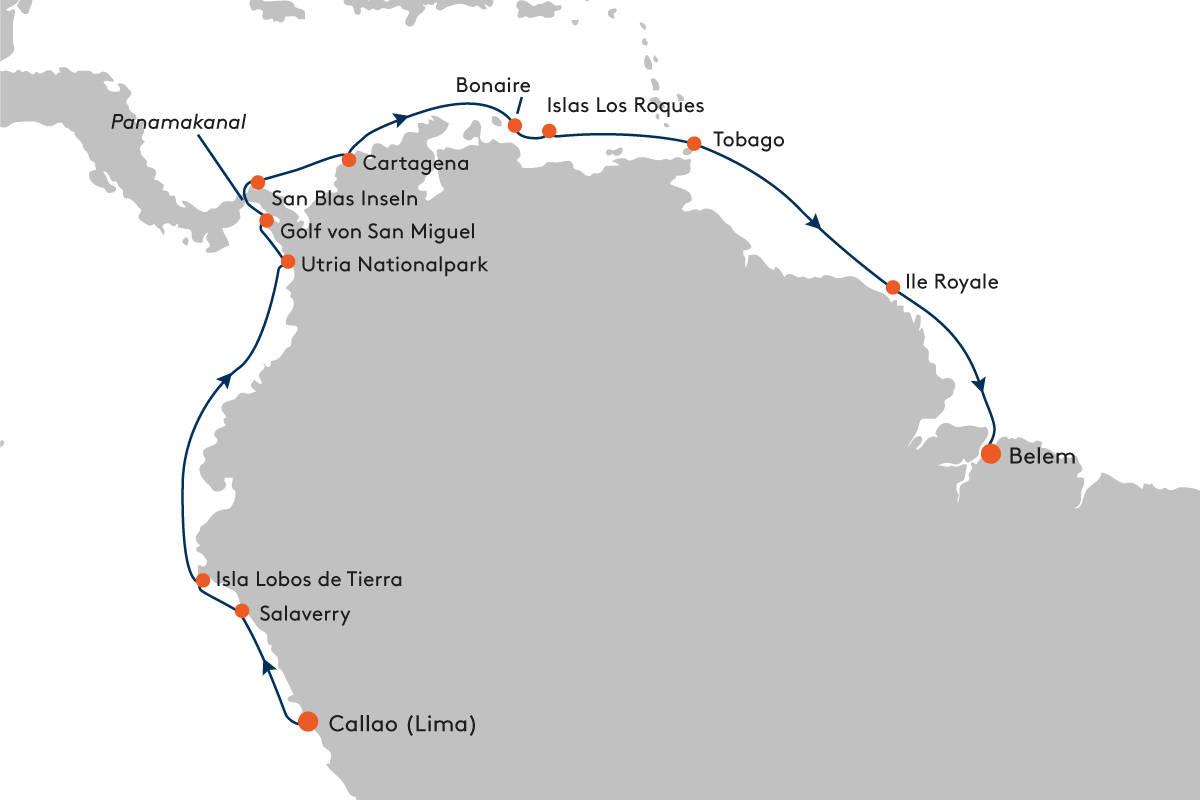 Expeditionskreuzfahrt von Callao nach Belem mit HANSEATIC nature ...