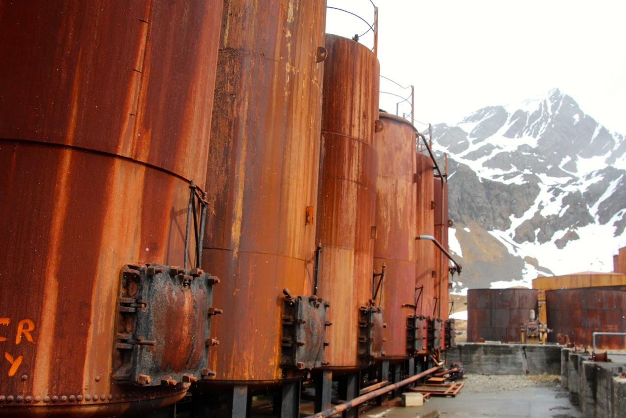 Antarktis_Kreuzfahrt_Bremen_Grytviken_Tanks_pushreset