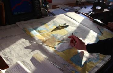 Antarktis_Kreuzfahrt_Bremen_Karte_Brücke_pushreset