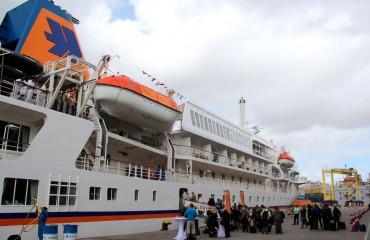 Antarktis_Kreuzfahrt_Bremen_Schiff_Begrüßung_pushreset