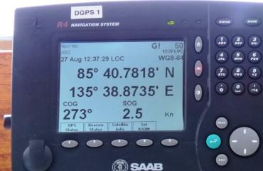 Nördlichster Punkt GPS-Anzeige B.Fugger