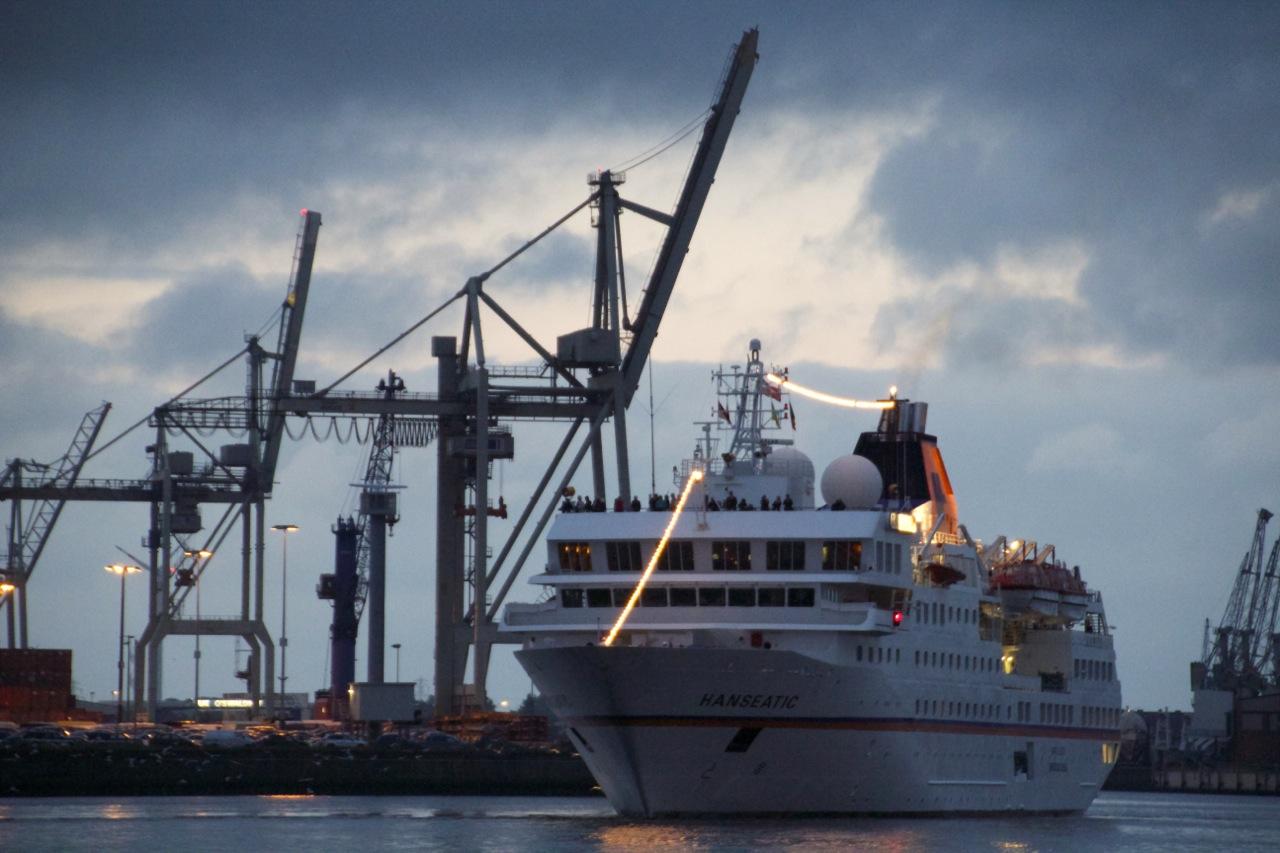 MS HANSEATIC, Ankunft Hamburg. ©Dirk Lehmann, push:RESET