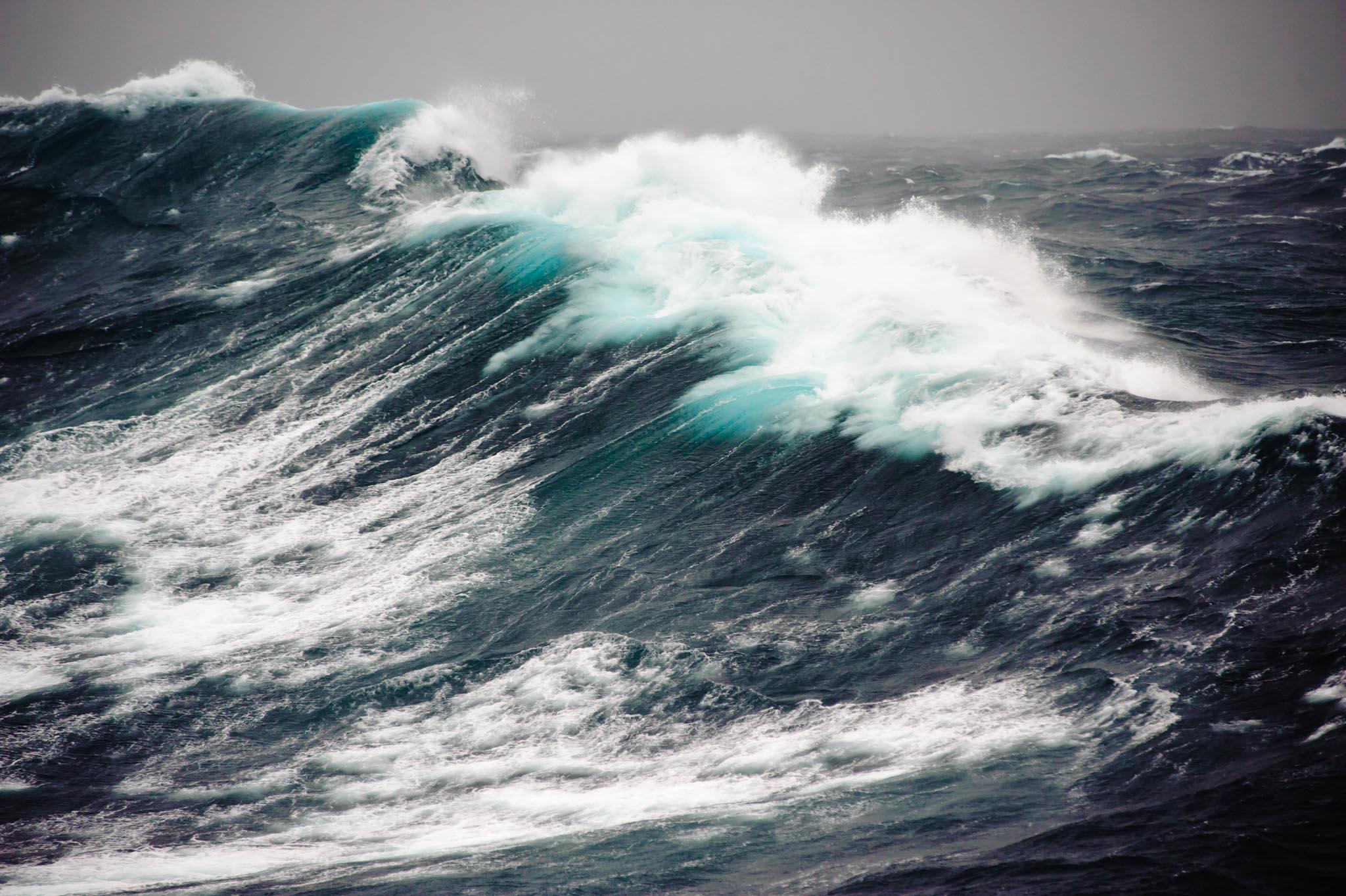Antarktis 2011: Sturm in der Drake Passage.