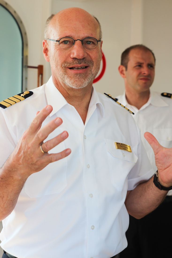 MS EUROPA, Kapitän Olaf Hartmann. ©Susanne Baade