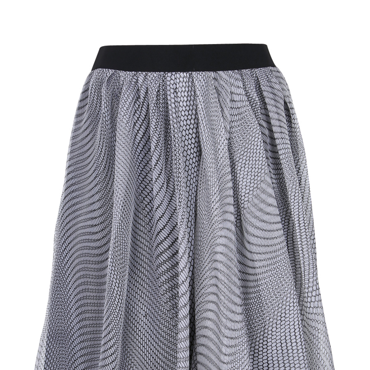 DOROTHEE SCHUMACHER_SPRING SUMMER 2015_WEIGHTLESS MESH_SKIRT_BLACK AND WHITE-3