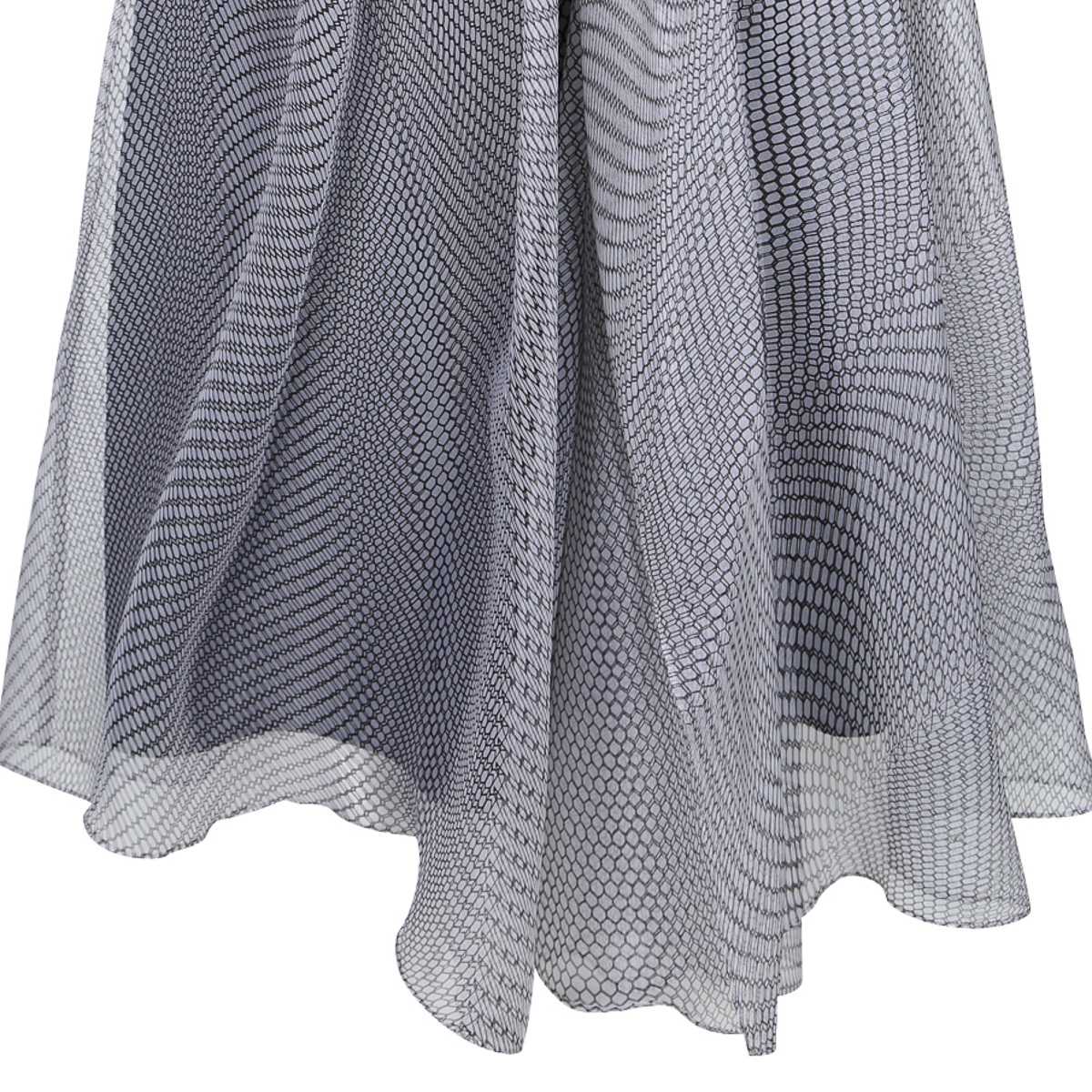 DOROTHEE SCHUMACHER_SPRING SUMMER 2015_WEIGHTLESS MESH_SKIRT_BLACK AND WHITE-4