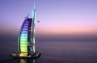 Burj Al Arab Hotel at Dusk