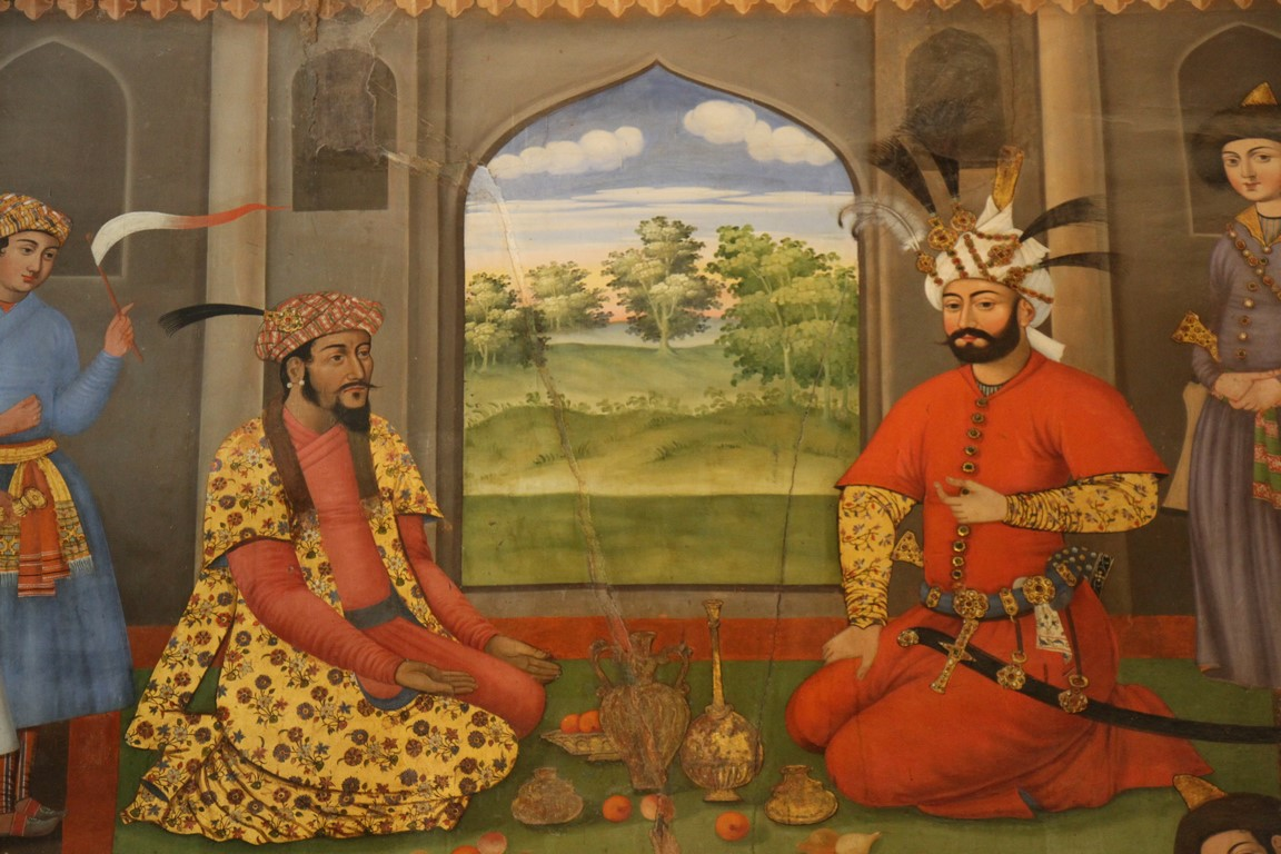 84 Schah und indischer Kaiser, 40 Säulen Palast (Copy)