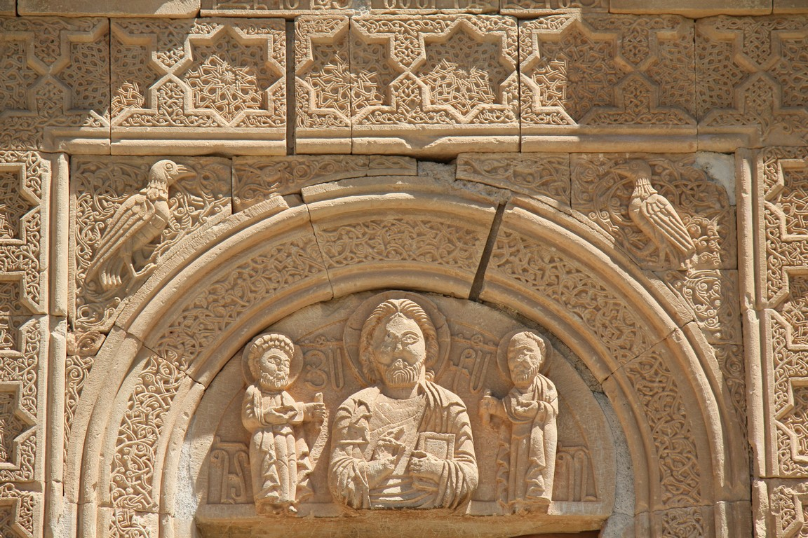 Norawank, islamisches Dekor und Christusbild