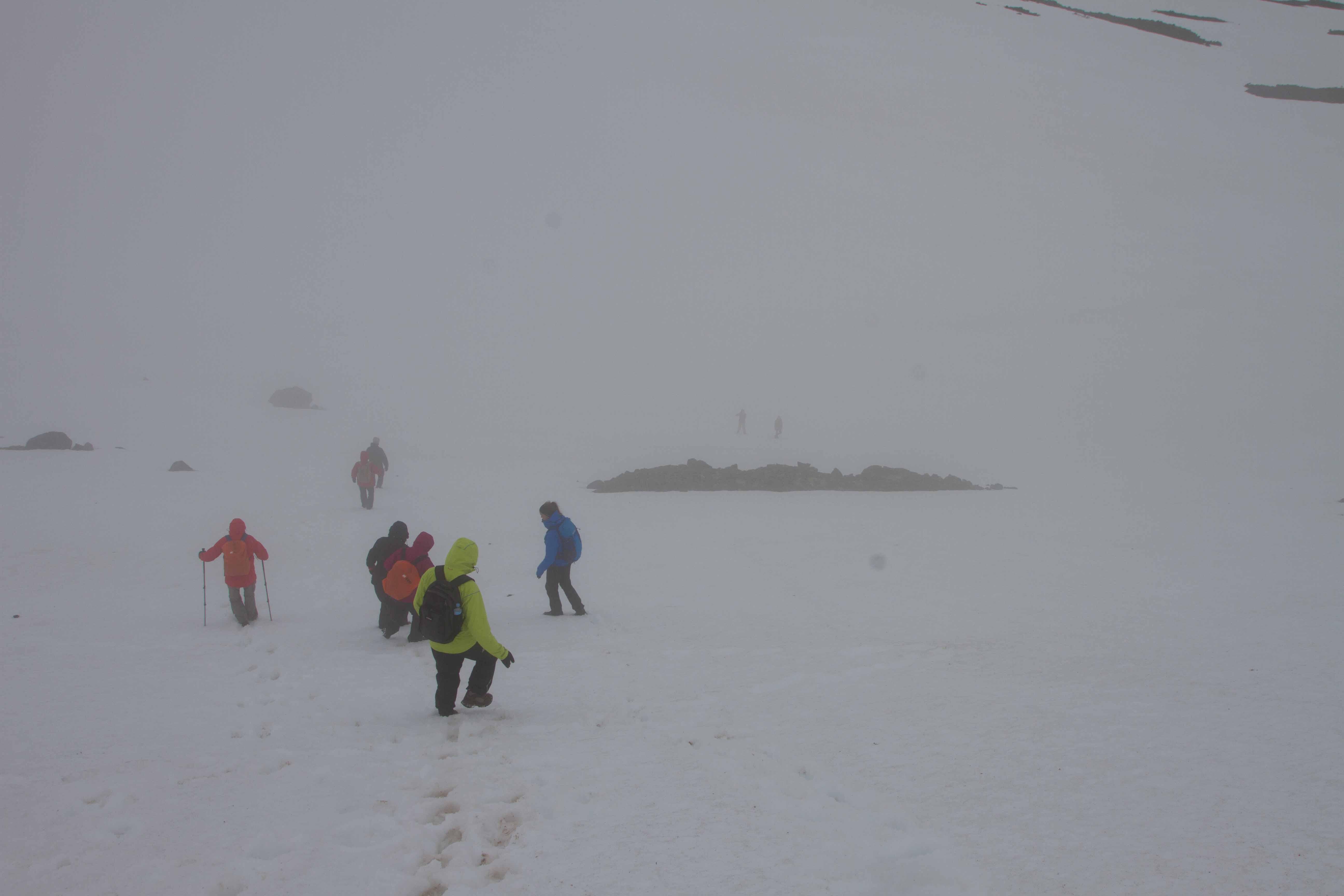 Im Schneefeld des 2. Tales
