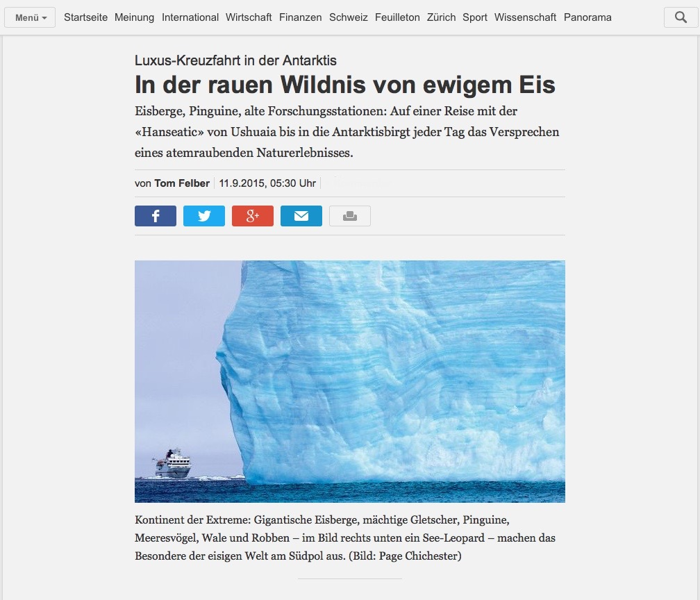 NZZ, Screenshot