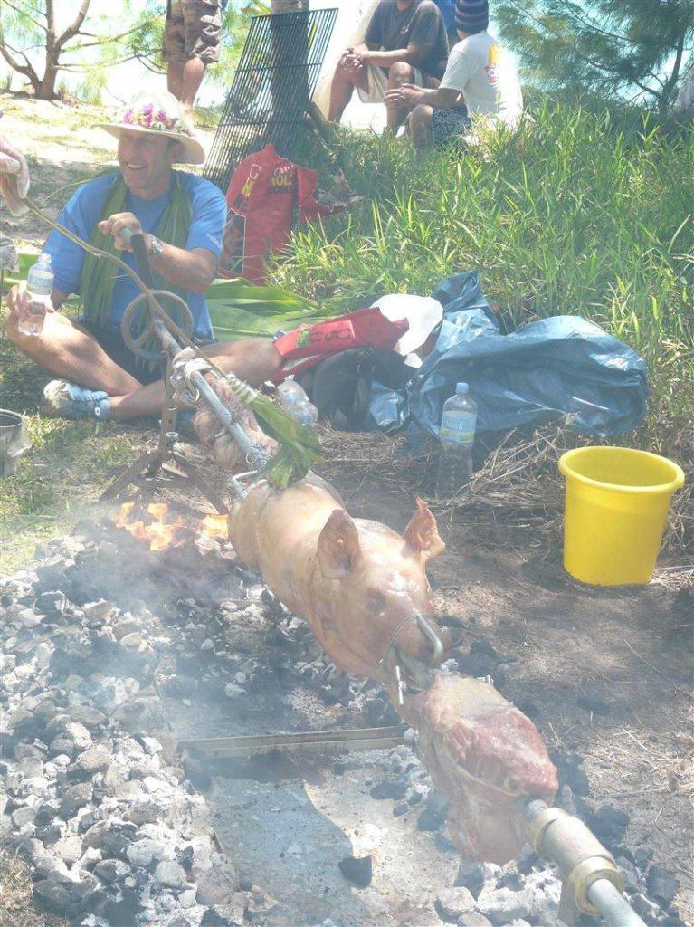 Tubuai - der Captain und das Schwein