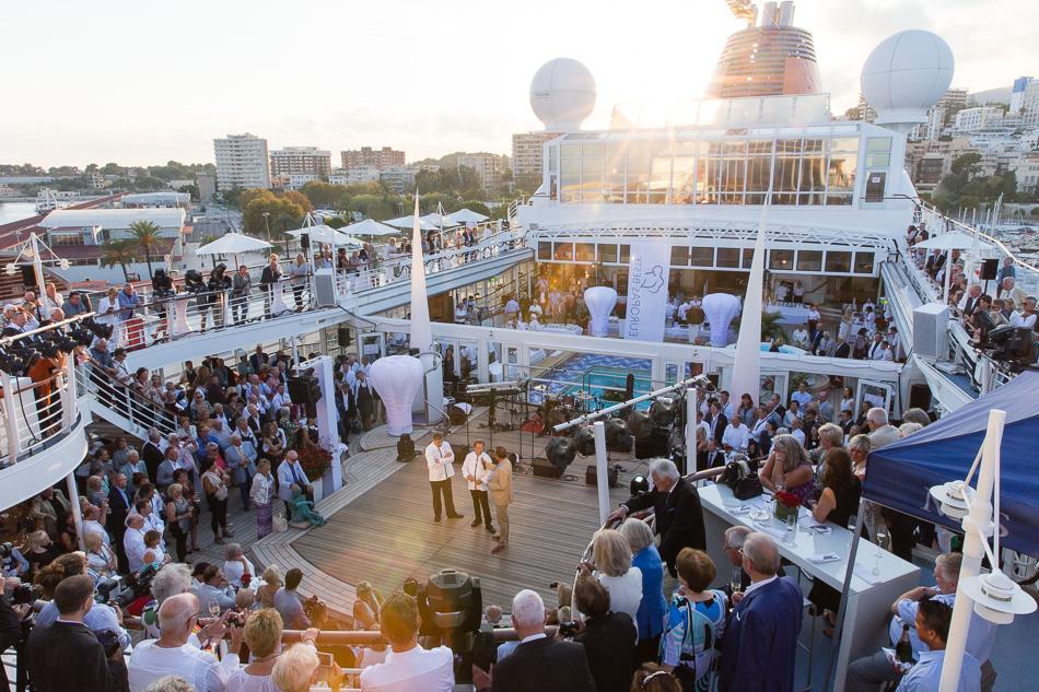 EUROPAs Beste vor Palma de Mallorca, Hapag-Lloyd Cruises.