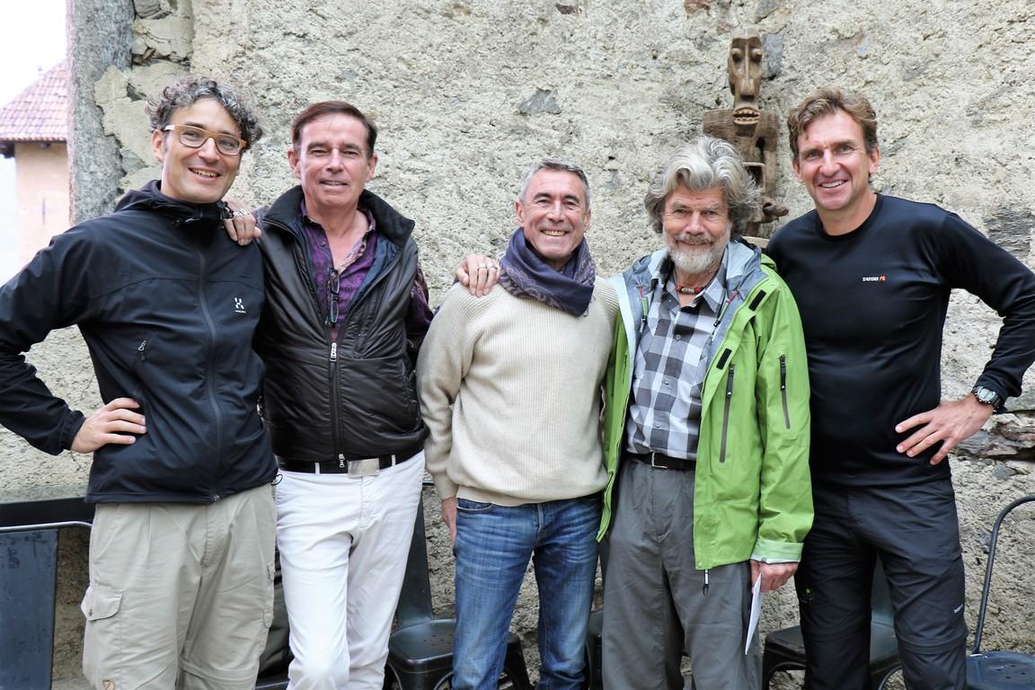 129 Dreamteam Dr. Johannes Gerber, Wolfgang Peters, Mathias Maier, Reinhold Messner, Kai Schepp
