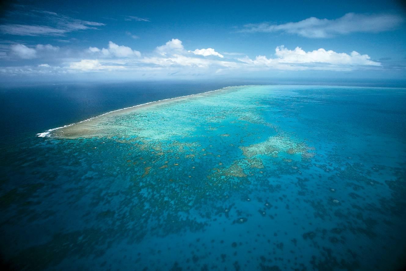 Great Barrier Reef in Australia From Above