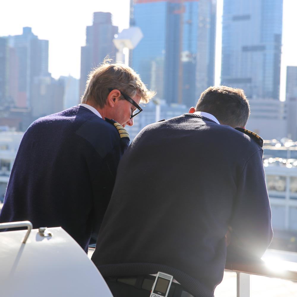 EUROPA 2, Gespräch mit Kapitän Ulf Wolter. ©Susanne Baade, E2MAG.