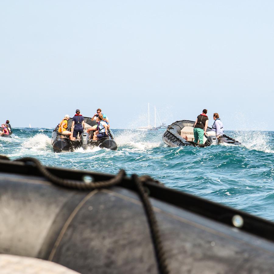 MS EUROPA 2, Mittelmeer, Zodiac-Tour mit Kids. ©Susanne Baade, E2MAG.