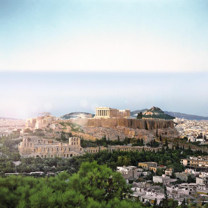 Bild frei verfügbar v. Griechische Zentrale f. Fremdenverkehr, Parthenon-Tempel, Akropolis, Athen, Griechenland
