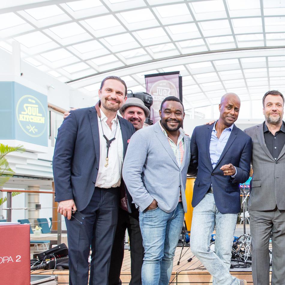 Soul Kitchen an Bord der EUROPA 2, Hapag-Lloyd Cruises. Abschlusskonzert mit Terri Green, Nelson Müller, Stefan Gwildis, moderiert von Yared Dibaba.