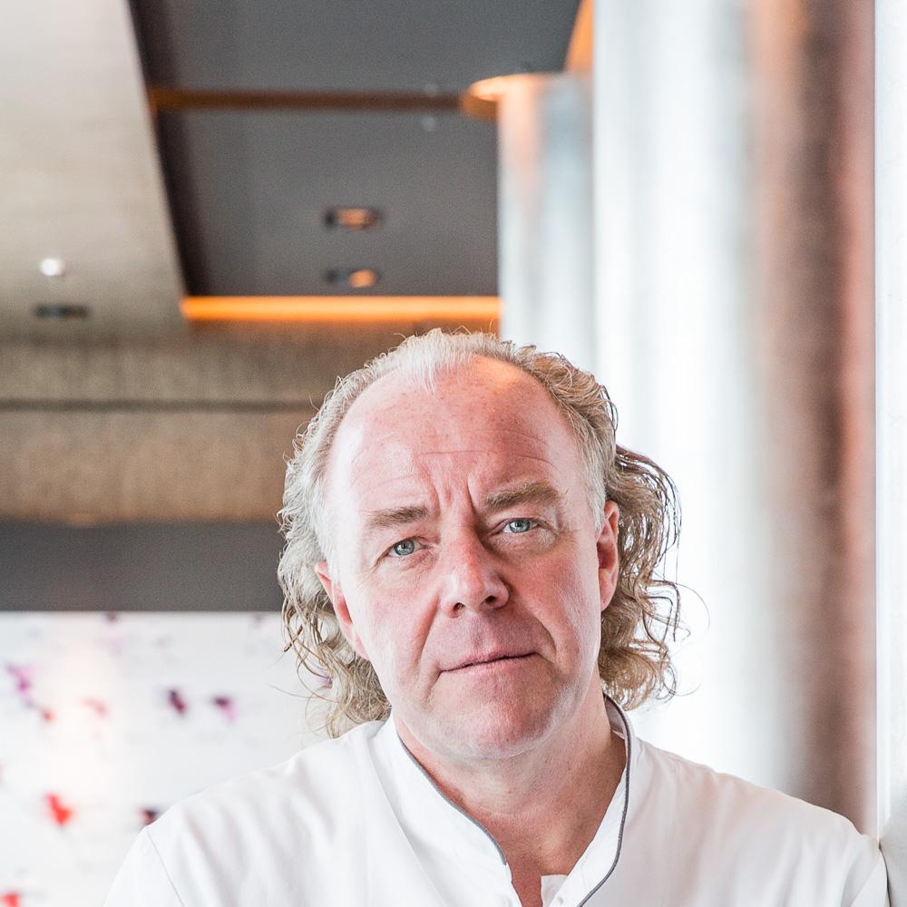 Michael Hoffmann an Bord der EUROPA 2, er ist verantwortlich für die neue Gemüseküche, die vegetarischen Gerichte für die Flotte von Hapag-Lloyd Cruises.