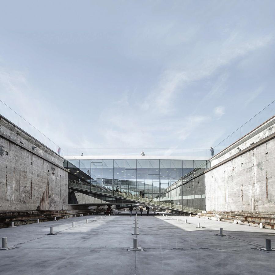 """Inside the """"dock"""" of M/S Maritime Museum of Denmark"""