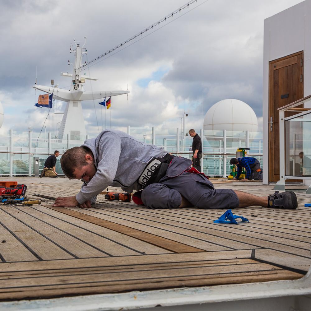 EUROPA 2, Hapag-Lloyd Cruises, Werftzeit bei Blohm + Voss in Hamburg.