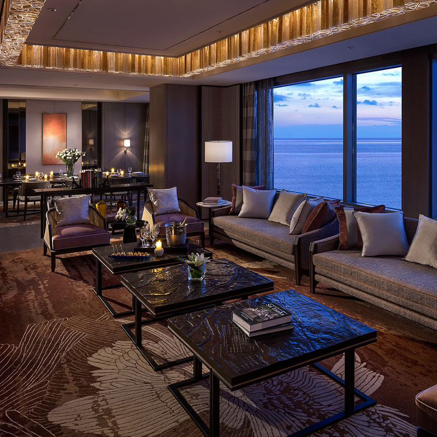 Shangri-la suite living area